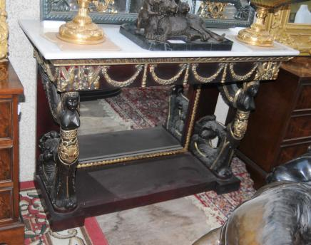 French Empire Sphinx Console Table Mirrored Tables