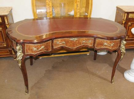 French Kidney Bean Desk Louis XV Writing Table Burea Plat