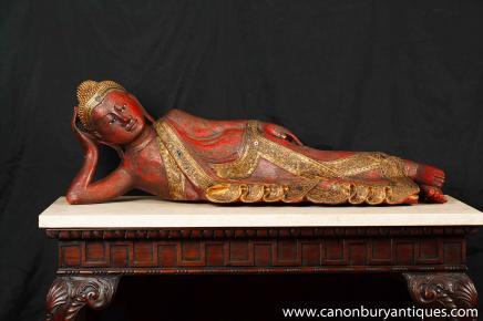 Hand Carved Burmese Buddha Statue Buddhist Buddhism Religious Art