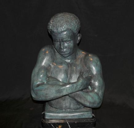 Italian Venetian Bronze Bust Blackamoor Statue