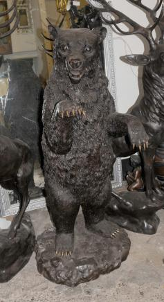 Lifesize Bronze Grizzly American Brown Bear Animals