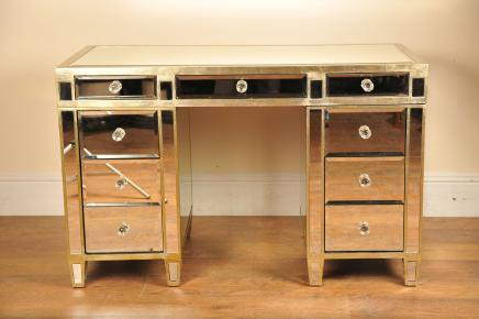 Mirrored Desk Knee Hole Mirror Furniture