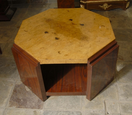 Octagonal Rosewood Art Deco Coffee Table Tables Retro
