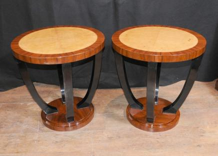 Pair Art Deco Cocktail Tables Side Table Modern Retro