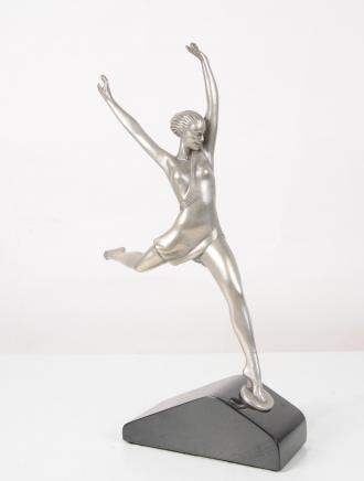 1920s Bronze Art Deco Dancer Figurine Statue French Statue