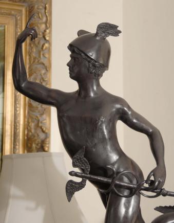 4 Ft Italian Bronze Statue Mecury Gods Roman