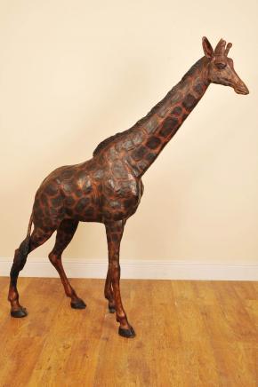 7 ft Bronze African Giraffe Giraff Garden Statue