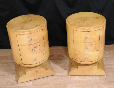 Art Deco Bedside Chest Drawers Side Table Nightstand Bedroom Furniture