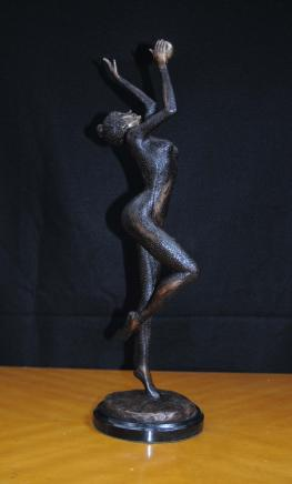 Art Deco Bronze Ball Dancer Statue Figurine French 1920s
