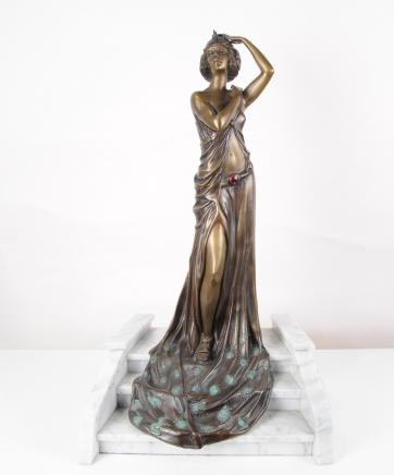 Art Deco Bronze Figurine Grand Entrance by Riviere