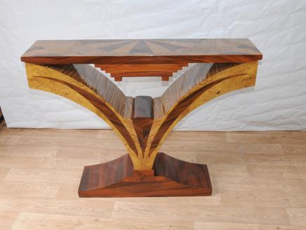 Art Deco Inlay Hall Table Console Tables Vintage Furniture