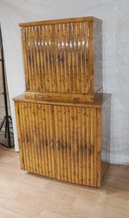 Blonde Walnut Art Deco Drinks Cocktail Cabinet 1920s Interiors