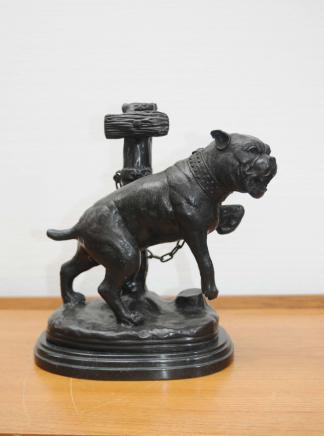 Bronze Boxer Dog Statue Dogs Boxers