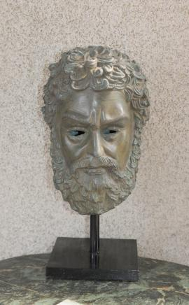 Bronze Bust Plato Mask Sculpture Greek Philosopher