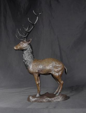 Bronze Cast Stag Sculpture Elk Moose Stags