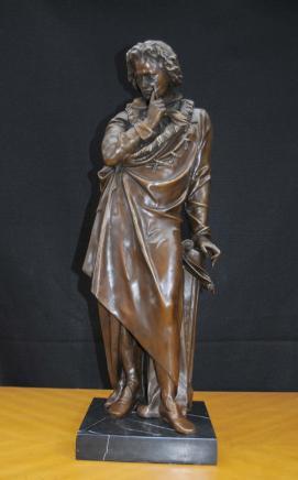 Bronze Casting Ludwig Van Beethoven Statue Figurine German Composer