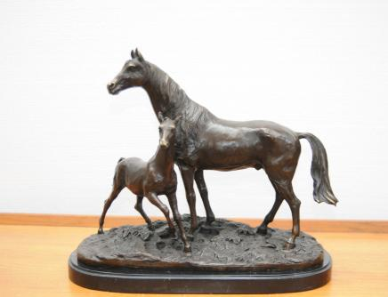 Bronze PJ Mene Horse Foal Pony French Statue Signed