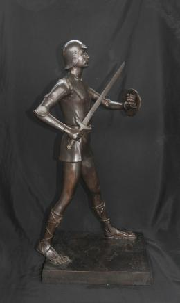 Bronze Roman Gladiator Warrior Signed Gardet