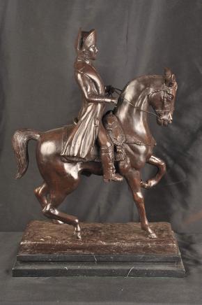 Bronze Statue Napolean Horseback Military Emperor