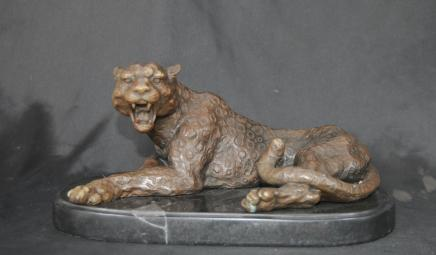 Deco Bronze Cat Leopard Panther Tiger Animals