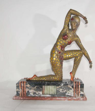 Fan Dancer Art Deco Bronze by Chiparus