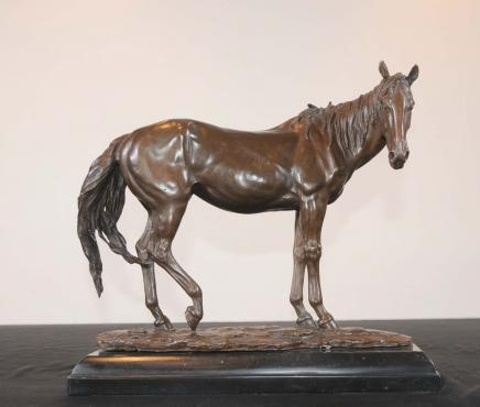 French Bronze Horse Statue Pony Animals