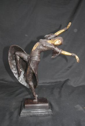 French Deco Chiparus Figurine Casting Statue
