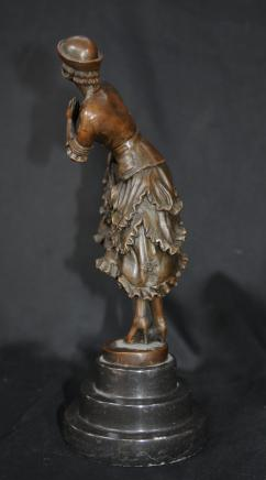 French Deco Statue Female Dancer Colinet
