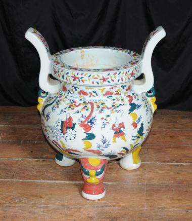 Japanese Porcelain Koro Burner Buddhist Incense Buddhism Bowl Vase Cauldron