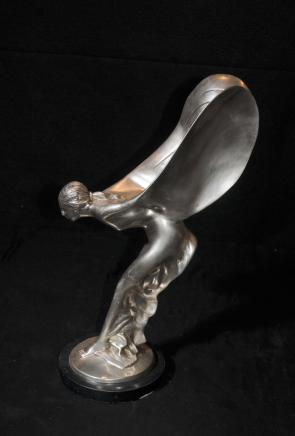 Rolls Royce Bronze Flying Lady Figurine Charles Sykes Deco Spirit