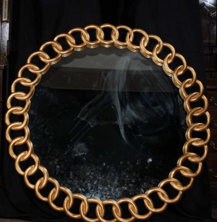 4t Round englischen Regency vergoldete Spiegel Spiegel