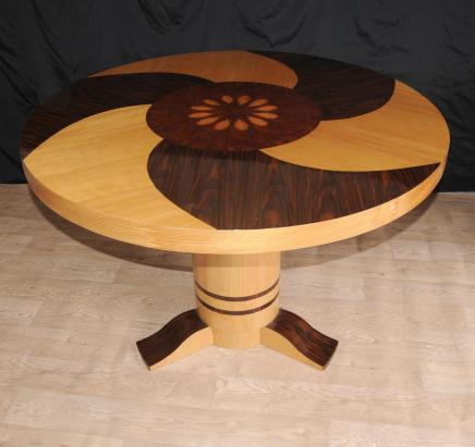 Art Deco Centro Spa Inlay Table Muebles 1920