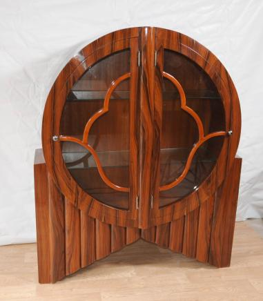 Art Deco Display Cabinet Bookcase Rosewood Vintage Furniture Design