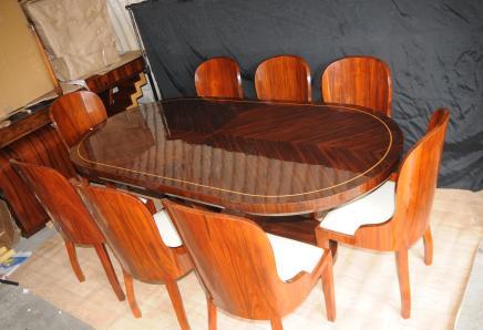 Art Deco Set tavolo da pranzo e sedie Mobili Suite
