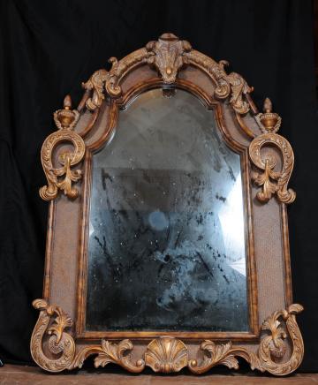 Grand Verre Miroir doré victorienne Pier Miroirs rococo