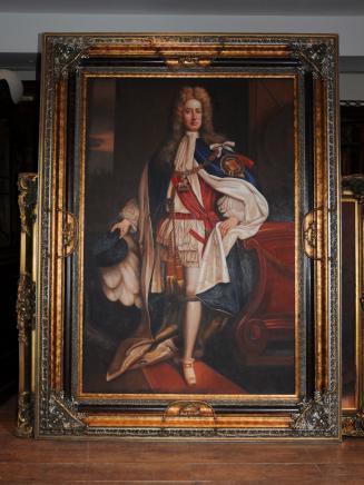 Große Ölgemälde Portrait Duke Of Marlborough John Churchill englischen Soldaten