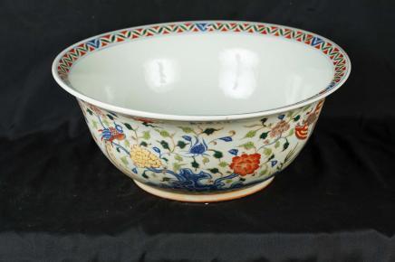 Porcelaine chinoise doucai conique Bowl Plaque vaisselle en céramique poterie Yongzheng