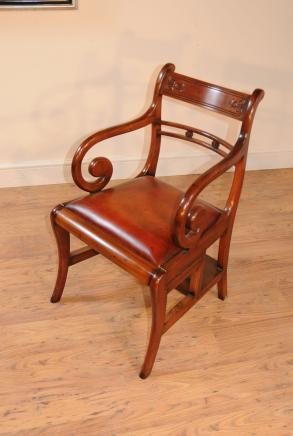 Regency Metamorphic Chair Bibliothek Steps Arm Chairs Ladder