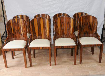 Set Art Deco Stühle Palisander Möbel 1920er Interiors