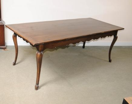 French Cherry Wood Refectory Dining Table Farmhouse Furniture