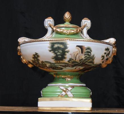 German Dresden Porcelain Tureen Dish Urn Pot Pourri