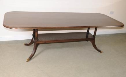 Oak Pedestal Dining Table Farmhouse English Furniture