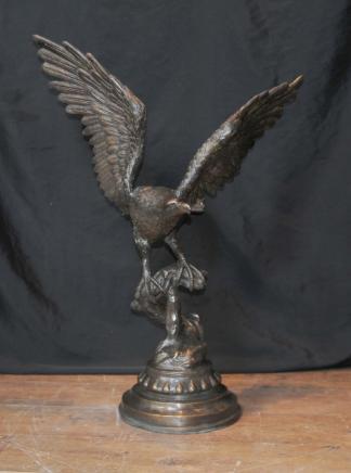 XL Bronze Casting American Golden Eagle Birds Prey Statue Casting
