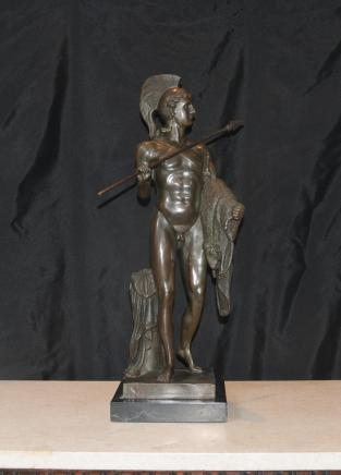 Bronze Casting griechischen Mythos Held Achilles Statue Krieger Casting