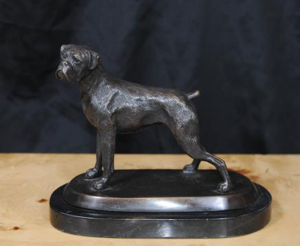 Bronze English Bull Dog Statue Hunde Canine Art