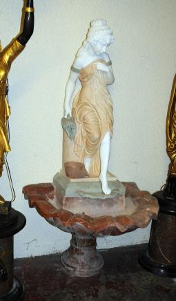 Italian Marble Garden Fountain Female Figurine Font Wasser-Funktion