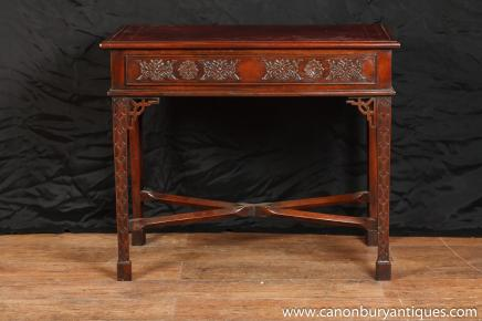 Mahagoni Chippendale Schreibtisch Side Writing Table Bureau Plat