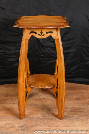 Oak Arts and Craft Beistelltisch Standfuß Antique English Furniture