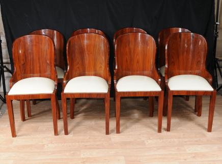 Set Art Deco Tub Dining Chairs Diners Jahrgang 1920 Möbel