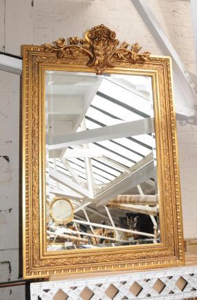 Grands miroirs dorés géorgiennes Pier miroir en verre